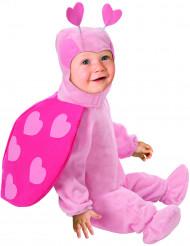 Disfarce de joaninha cor-de-rosa para bébé
