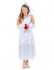 Disfarce de recém-casada para menina