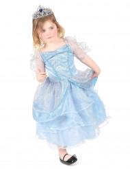 Disfarce azul de princesa para menina