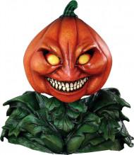 Máscara integral abóbora de luxo Halloween