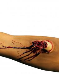 Ferida falsa braço adulto Halloween