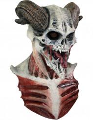 Máscara esqueleto diabólico adulto Halloween