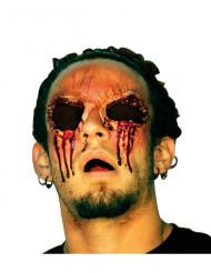 Ferida falsa sem olhos adulto Halloween
