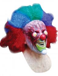 Máscara integral palhaço queimado Halloween