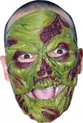 Máscara zombie verde adulto Halloween