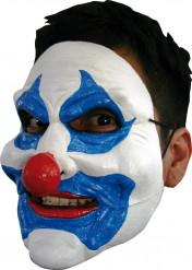 Máscara palhaço azul adulto Halloween