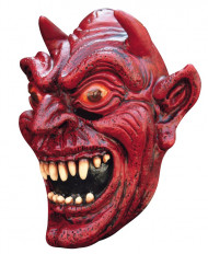 Máscara integral demónio vermelha adulto Halloween