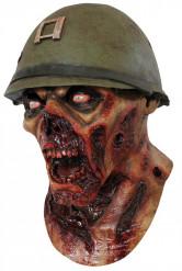 Máscara soldado zombie adulto Halloween