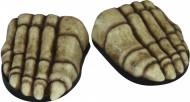 Cobre-sapatos esqueleto adulto Halloween