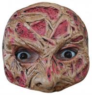 Meia máscara cara queimada adulto Halloween