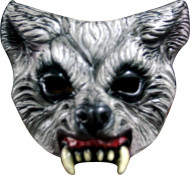 Meia-máscara lobo feroz adulto Halloween
