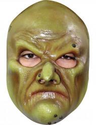 Máscara bruxo verde realista adulto Halloween