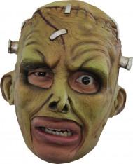 Máscara 3/4 criatura Frankenstein verde adulto Halloween