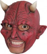 Máscara demônio chifres adulto Halloween