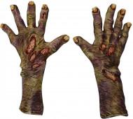 Luvas zombie decomposto adulto Halloween