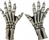 Luvas esqueleto branco adulto Halloween