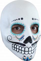 Máscara caveira adulto Dia de los muertos com bigode