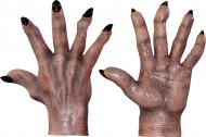 Luvas de monstro castanho adulto Halloween