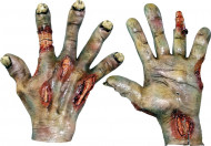 Luvas mãos queimadas adulto Halloween