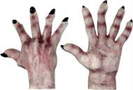 Luvas de monstro pele clara adulto Halloween