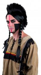 Peruca de índio com tranças para adulto