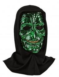 Máscara de monstro amarelo/verde adulto
