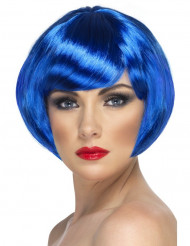 Peruca curta cabaret azul mulher