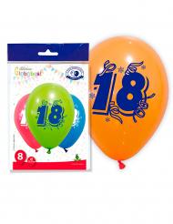 8 balões numero 18