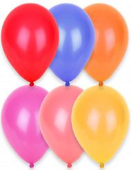 24 balões de cores diferentes 25cm