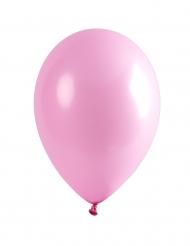 12 balões rosa