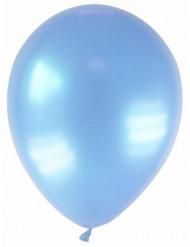 12 balões azul claro metalizado