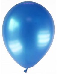 12 balões azulescuro metalizado