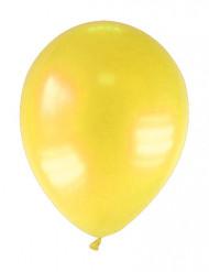 12 balões amarelos metalizado