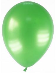 12 balões verdes metalizada