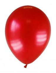 12 balões vermelho metalizado