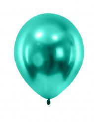 12 balões verdes escuro metalizado