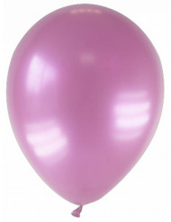 12 balões rosas metalizada