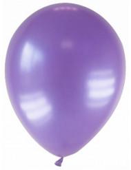 12 balões roxo metalizado