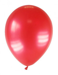 12 balões metalizado vermelho 28cm