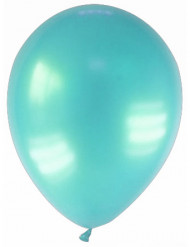 12 balões turquesa metalizado