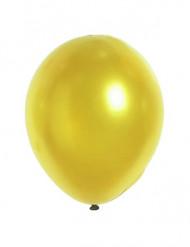 12 Balões dourados metalizados 28 cm