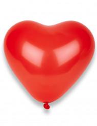 8 balões corações vermelhos
