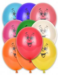 10 balões Multicores smile