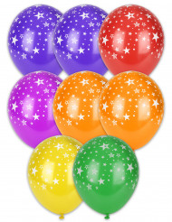 8 Balões com estrelas