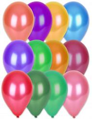 100 balões multicores 29cm