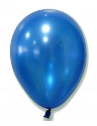 100 balões efeito metal azuis 29cm