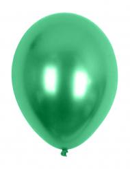 100 balões verdes efeito metal