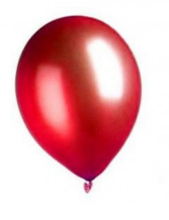 100 balões vermelhos efeito metal