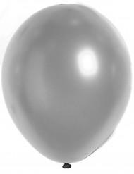 100 balões prateados 29cm