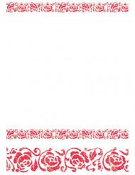 Toalha arabescos vermelhos